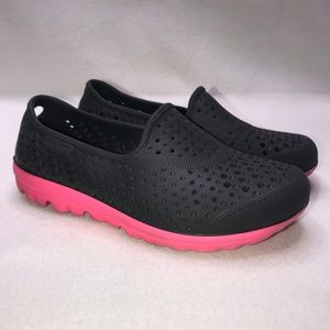 Skechers H2Go Black Pink Water Loafers Girl's 12